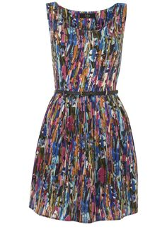 Abstract Flower Print Dress @?? ? Direct #PinToWin
