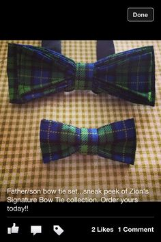 Father/son bow tie set from Zion Siganture collection.