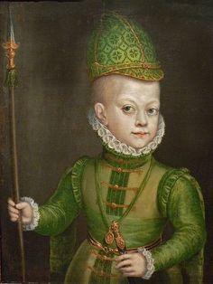 Alonso Sánchez Coello (1531 – 1588) Spain Renacimiento Temprano. 'The Infant Don Felipe' 1580 oil