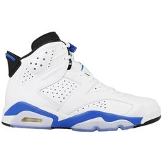 Jordan Mens Air Jordan 6 Retro Leather basketball-shoes ($235) ❤ liked on Polyvore featuring mens, men's shoes, shoes, jordans and sneakers