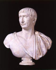 Portrait of Trajan Sculpture 98-117 AD Marble cm 74 / Palazzo Nuovo / Through the rooms - Musei Capitolini