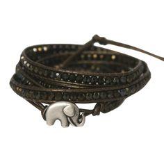 Kenyan Elephant Wrap Bracelet by Sasa Designs. Handcrafted by deaf Kenyan artisans.