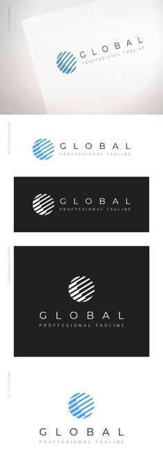 Clear and precise corporate logo for strong business presence. G Logo Design, Corporate Logo Design, Business Branding, Logo Branding, Branding Design, Web Design, Global Logo, Share Logo, Promo Flyer
