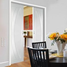 Double Pocket Salerno Primed Flush Door - Lifestyle Image