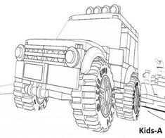 lego coloring page 60055 monster truck   lego   ausmalbilder, ausmalen und wenn du mal buch
