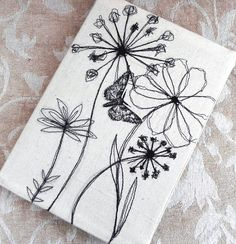 Embroidered and appliqued covered notebook £10.00