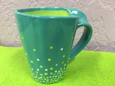 Art, Colorful, Coffee mug, Birthday Gift, Ceramic, Pottery, Paint your own, Design, Personalize, Giveaways, Decor, Collection, kitchen