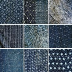 Traditional Japanese craft in contemporary design - ancient Japanese tradition of sewing, quilting, repair and recycling