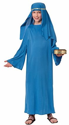 Forum Novelties Biblical Times Shepherd Blue Costume Robe…Polyester Biblical Times Shepherd child costume robe Includes robe only; hat sold separately Child large fits children 54 to 60 inches tall, up to 100 pounds Great for Halloween, Christmas, and other dress-up occasions Made by Forum Novelties, a leader in costumes and novelty products for more than 30 years (affiliate link)