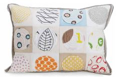 """Spot On Pillow by Malka Dubrawksy :: from """"100 Pretty Little Projects"""""""