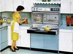 Omg! I've cooked using this exact stove! cooking with the Frigidaire Flair, 1962