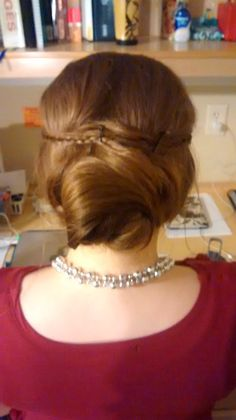 Classic bun for my roommate going to sing opera.