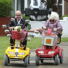 Harry Hill in mobility scooter duel with Julie Walters - Yahoo! Movies UK and for the best deals on mobility scooters visit us at www.smartscooters.co.uk