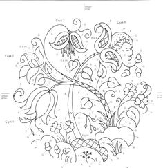 Embroidery Pattern | Crewel Embroidery. Image Only. Unknown Source. jwt