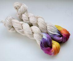 100g Pima Cotton 4ply / sock *A tiny bit of Summer by JoKnitSew on Etsy