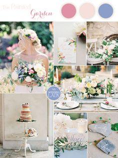 The Painted Garden - Romantic Watercolor Wedding Inspiration in Soft Pastel Shades