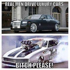 Muscle Car Memes: Real men drive luxury cars… – www. - Car World Truck Memes, Car Jokes, Funny Car Memes, Car Humor, Funny Quotes, Funny Cars, Custom Muscle Cars, Mechanic Humor, Drag Cars