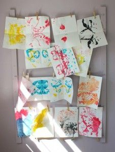 Mirror Image String Prints with Toddlers