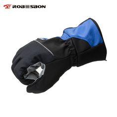 ZXC Motorcycle Gloves Winter Waterproof Keep Warm Locomotive Anti-Fall Off-Road Thickening Long Glove