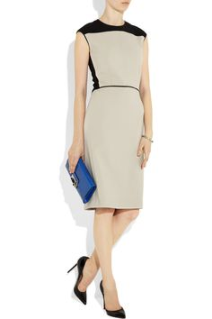 Serge two-tone wool-blend crepe dress $1,595 Narcisco Rodriguez Net-a-Porter
