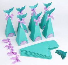 Aytai Mermaid Party Favors Boxes Mermaid Gift Bags Box With Thank You Stickers For Kids Mermaid Party Supplies Goodie Bags Baby Shower Birthday photo ideas from Amazing Party Decoration Ideas Mermaid Party Favors, Mermaid Party Decorations, Mermaid Theme Birthday, Little Mermaid Birthday, Little Mermaid Parties, Mermaid Gifts, Kid Party Favors, Birthday Party Decorations, Party Themes