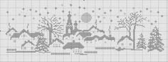 Free winter scene cross stitch chart 2 of 3 #stitching