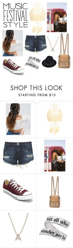 """Music Festival"" by annawell-1 ❤ liked on Polyvore featuring ASOS, 3x1, Converse, Chloé, Bony Levy and Natures Jewelry"