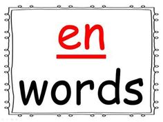 Students practice reading words in the -en word family as you go through the power point presentation. This is a great activity for introducing a new word family or for rhyming.