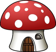 Collection of House clipart Mushroom House, Mushroom Art, Clip Art, Mushroom Clipart, Cartoon Mushroom, Smurf Village, House Clipart, Smurfette, Recycled Crafts