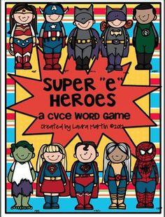 "Super ""e"" Heroes-A cvce Word Game - Laura Martin - TeachersPayTeachers.com"