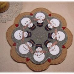 Little Pilgrims Thanksgiving Penny Rug/candle Mat DIGITAL | Etsy