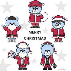 Bigbang Krunk, Gd Bigbang, G Dragon, Ikon, Fanart, Bear, My Love, Party, Cute