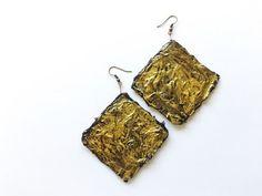 rectangular earrings paper earrings italian earrings by tizianat