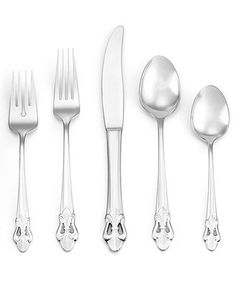 Ginkgo Flatware 18/10, Fleur de Lis 20 Piece Set - Flatware & Silverware - Dining & Entertaining - Macy's  $125