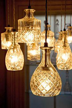 Lee Broom decanter lights