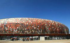 Soccer City Stadium Johannesburg of South Africa Africa News, New Africa, South Africa, Soccer City, Buildings, To Go, Clouds, Travel, Viajes