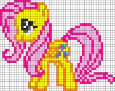 Kandi Patterns for Kandi Cuffs - Characters Pony Bead Patterns Pony Bead Patterns, Kandi Patterns, Pearler Bead Patterns, Perler Patterns, Beading Patterns, Cross Stitch Patterns, My Little Pony, Little Poney, Perler Bead Art