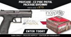 **NEW CONTEST** Enter To WIN The PolyCase Ammo - CZ-USA P-10C Pistol Package Giveaway via AmmoWinner.com, Guns Ammo Tactical, On Target Magazine, https://wn.nr/ZK3QGq <--- USE LINK TO ENTER (ends 6/30)