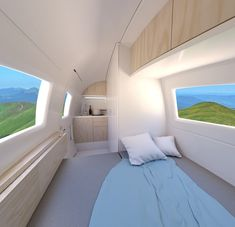 gorgeous 36 Classy Ecocapsule Portable House Design Ideas With Sustainable Living Off Grid House, Tiny House Blog, Portable House, Micro House, Rv Interior, Built In Cabinets, Off The Grid, House Built, Home Trends