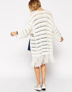 Outstanding Crochet: ASOS Crochet Kimono Cardigan.