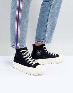 52999eac5d1f57 Converse Chuck Taylor All Star hi lift ripple sneakers in black Converse  Chuck Taylor All Star
