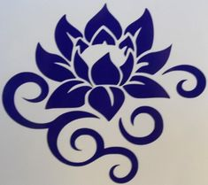 Lotus Flower Scroll Silhouette Car Truck Window Vinyl Decal Sticker Choose COLOR #TheStickerEmporium
