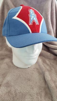 Vintage 90 s Deadstock Houston Oilers NFL Starter Strapback Hat Cap by  RackRaidersVtg on Etsy Houston Oilers ea348d908