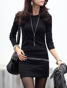 Chic Cotton  Knitted-dress Knitted Dress from fashionmia.com