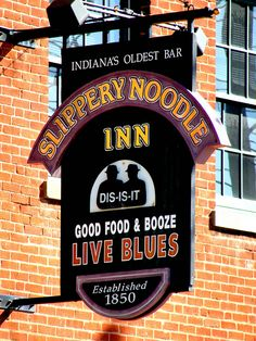 The Slippery Noodle Inn is a large blues bar and restaurant with two performance stages in downtown Indianapolis, Indiana. It also has the distinction of being the oldest continuously operating bar in the state of Indiana, having opened in 1850 as the Tremont House.The Inn served as a stop on the Underground Railroad during the American Civil War.