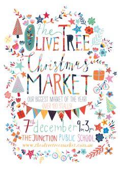 Lauren Merrick Olive Tree Christmas Poster Winner 2013