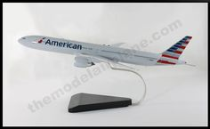 American Airline B777-300er model airplane