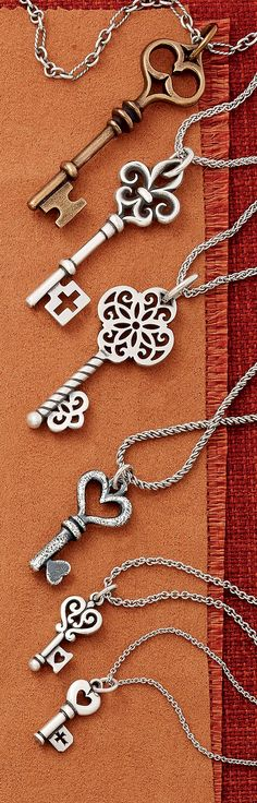 Fall Collection - Key Pendants and Charms #JamesAvery