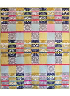 Peacock Plume Quilt by Tamara Kate Designs