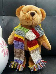 """Teddy Bear Clothes,Dr Who Scarf to fit a 10""""-12"""" Bear"""